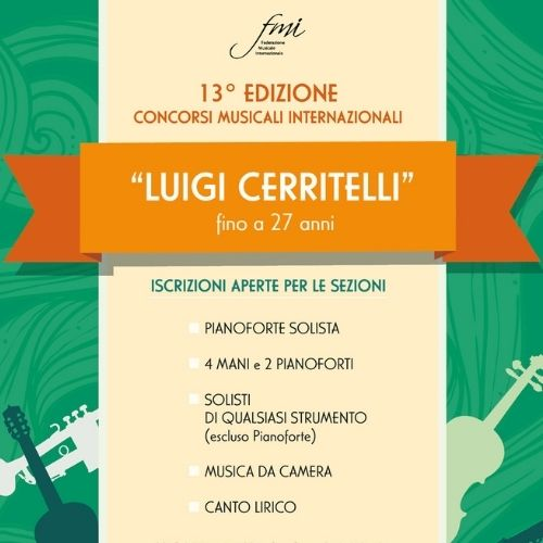 """13° Edizione Concorsi Internazionali Musicali- ONLINE """"Luigi Cerritelli"""""""