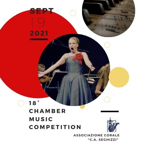 """18° Concorso Internazionale di canto Cameristico per voce sola con accompagnamento di pianoforte """"Seghizzi"""""""